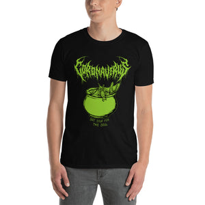 "Coronavirus ""Bat Soup for the Soul"" Death Metal T-Shirt plus Updated World Tour Back Print"
