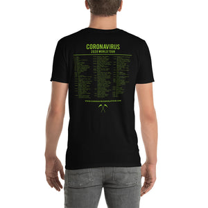 "Coronavirus ""Gone Viral"" Death Metal T-Shirt with Updated World Tour Back Print"