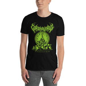 "Coronavirus ""The Beginning of the End"" Death Metal T-Shirt plus Original World Tour Back Print"