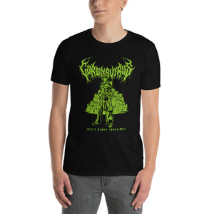 "Coronavirus ""Toilet Paper Apocalypse"" Death Metal T-Shirt plus Updated World Tour Back Print"
