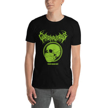 "Load image into Gallery viewer, Coronavirus ""Death Mask Daze"" Death Metal T-Shirt plus Original World Tour Back Print"