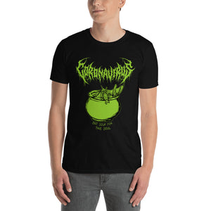 "Coronavirus ""Bat Soup for the Soul"" Death Metal T-Shirt plus Original World Tour Back Print"