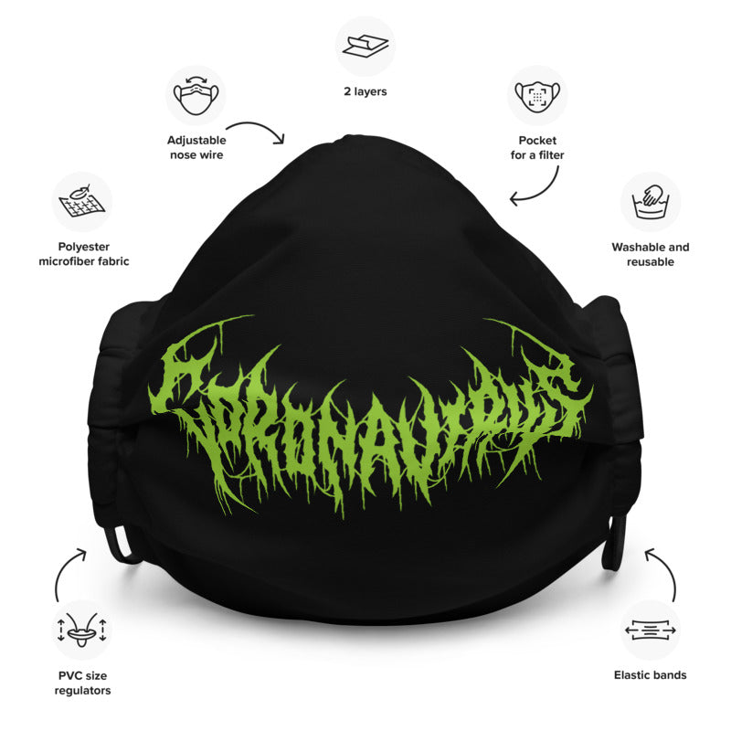 Coronavirus Death Metal Face Mask