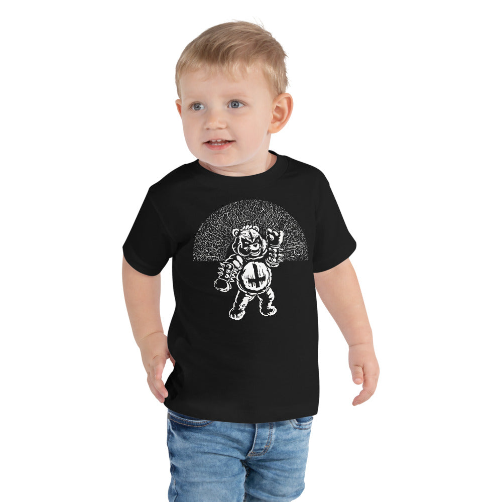 Black Metal Scare Bear - Toddler Black Tee (2 - 5 Years)