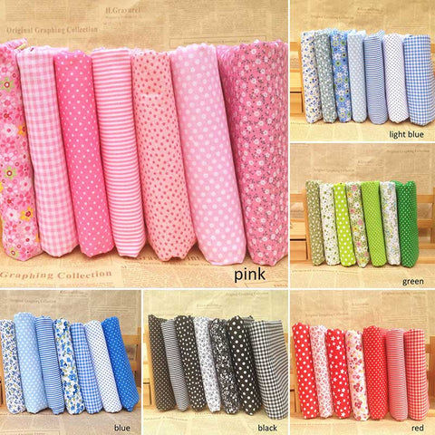 Set 7 khúc vải Cotton  in hoa 25*25CM