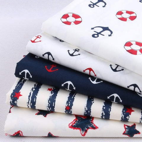 Set 5 khúc vải Navy cotton 20x25cm