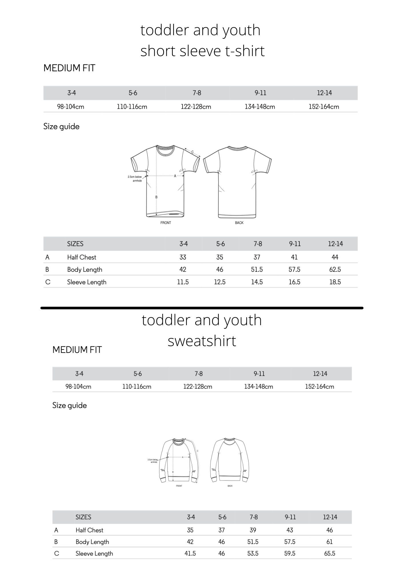 little mate adventures sizing and measurements for baby, toddler, and youth t-shirts, bodysuits, hoodie sweatshirts, sweatshirts, leggings, sweatpants, breton tops