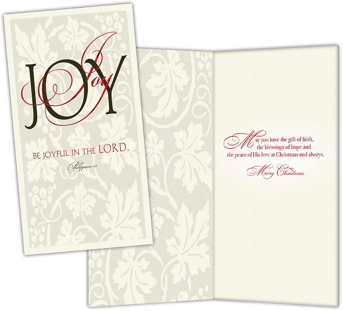 Be Joyful in the Lord - Special Finish Boxed Christmas Cards