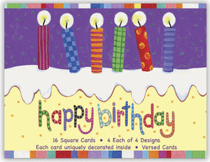 Happy Birthday by Robin Roderick - Assorted Birthday Cards, Box of 16