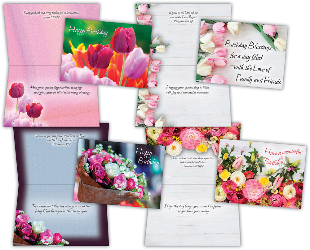 Birthday Beautiful Flowers Assorted Birthday Cards Box Of 12 Crown Point Graphics,Kitchen Helper Stool Ikea Hack