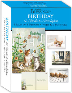 Birthday IV - Assorted Birthday Cards, Box of 12