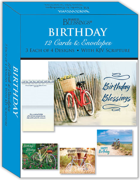 Birthday - Journeys - Assorted Birthday Cards, Box of 12
