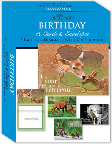 Birthday - Mother and Child - Assorted Birthday Cards, Box of 12
