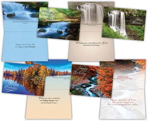 Birthday - Waterways - Assorted Birthday Cards, Box of 12