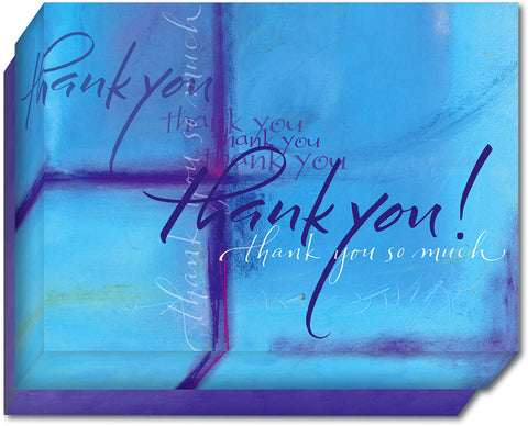 Blue And Purple Thank You - Boxed Thank You Cards, Box of 15