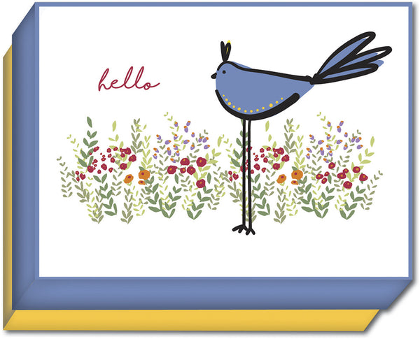 Blue Bird and Flowers - Boxed Note Cards, Box of 15