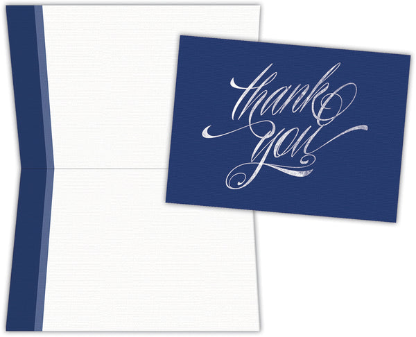 Blue Chalkboard Thank You - Boxed Thank You Cards, Box of 15