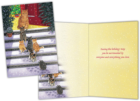 Cats Home for the Holidays - Special Finish Boxed Christmas Cards