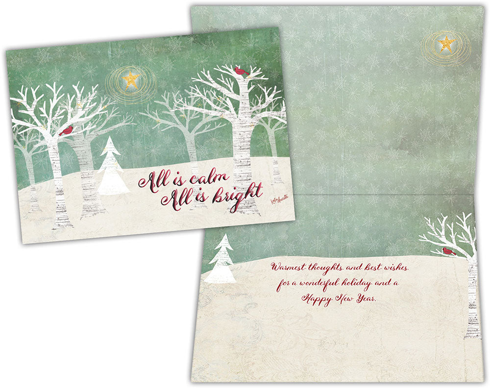 Christmas Trees - Special Finish Boxed Christmas Cards