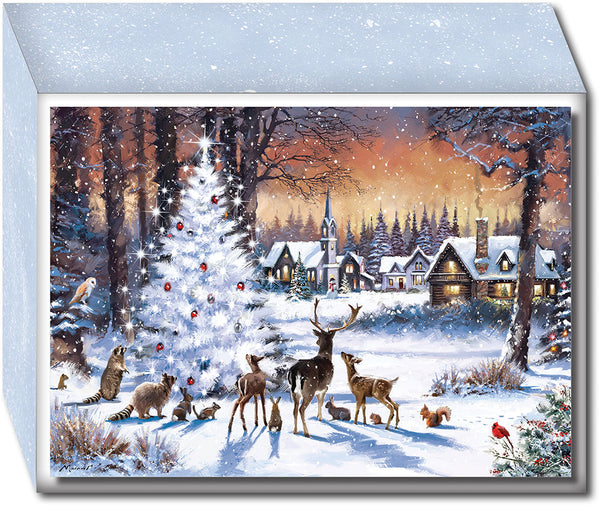 Christmas Woods - Special Finish Boxed Christmas Cards