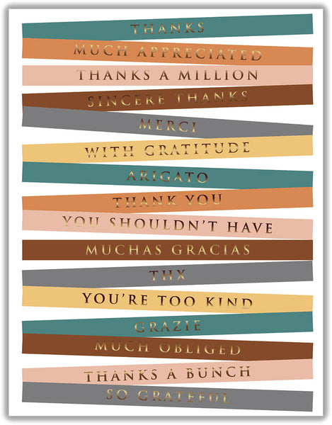 Color Labels Thank You - Boxed Thank You Cards, Box of 15