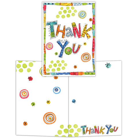 Confetti Thank You - Boxed Thank You Cards, Box of 15