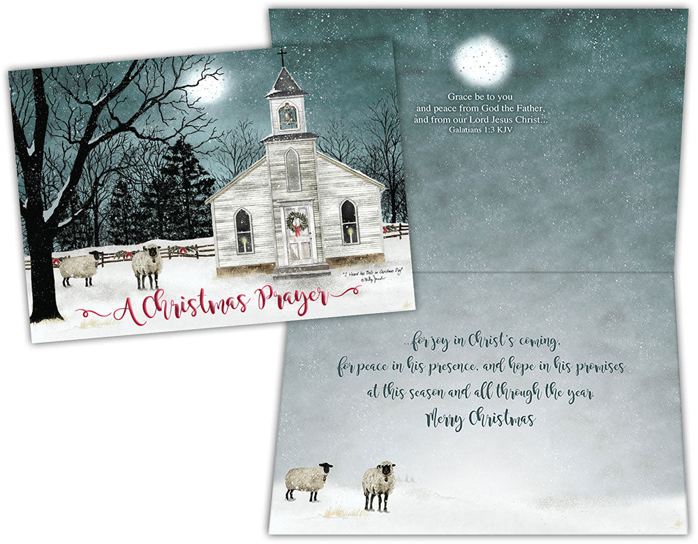 Country Church Scene - Boxed Christmas Cards