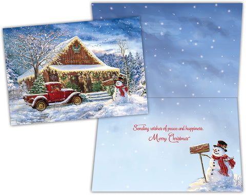 Country Store Christmas - Special Finish Boxed Christmas Cards