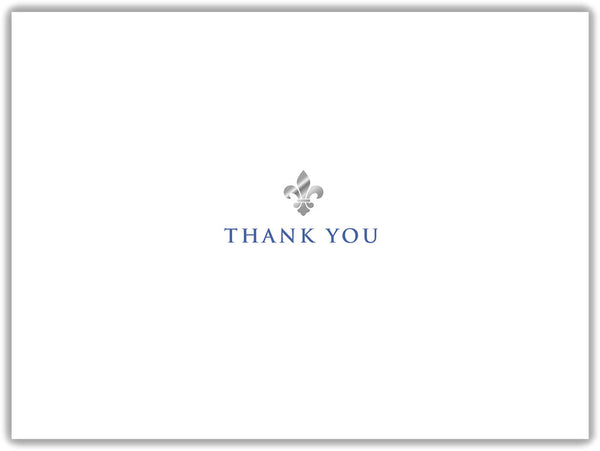Fleur de Lis - Thank You - Boxed Thank You Cards, Box of 15