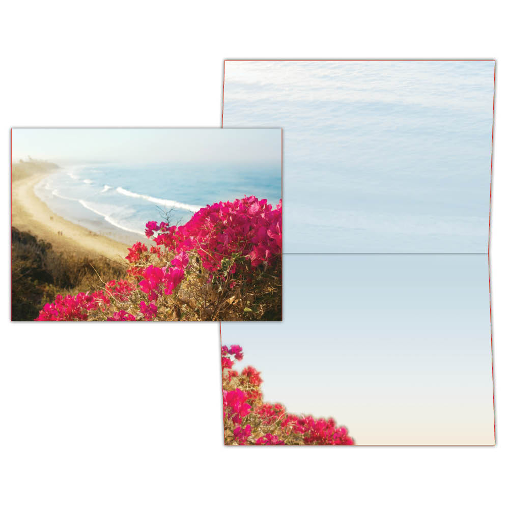 Floral Beach View - Boxed Greeting Cards, Box of 15