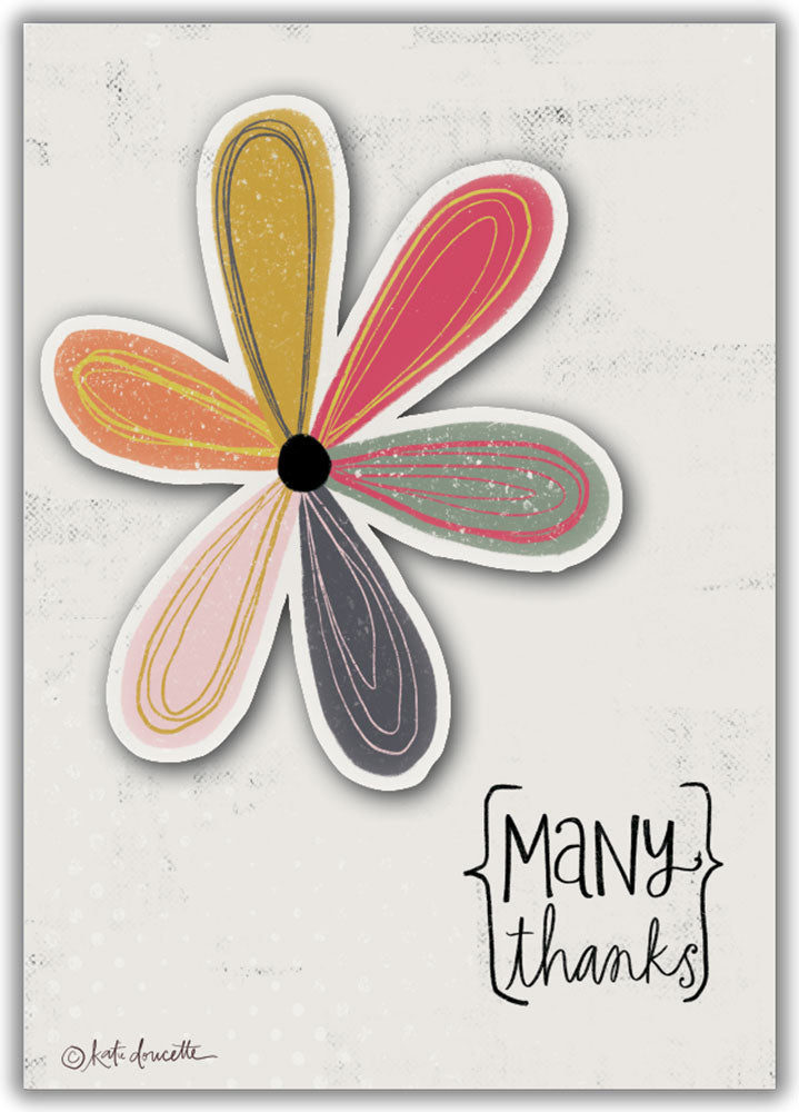 Many Thanks Daisy - Boxed Thank You Cards, Box of 15