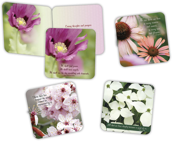 Floral Sympathy II - Assorted Sympathy Cards, Box of 16