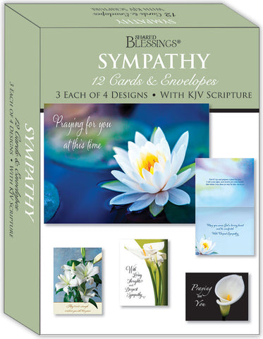 Floral Sympathy - Assorted Sympathy Cards, Box of 12