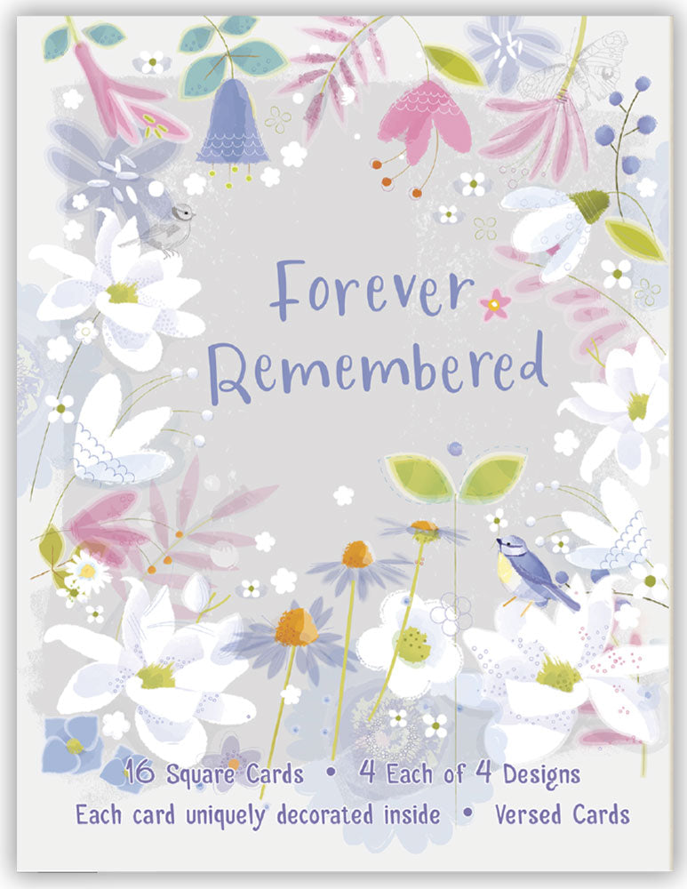 Forever Remembered - Assorted Sympathy Cards, Box of 16