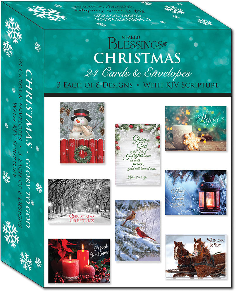 Glory to God - Large Christmas Card Boxed Assortment with KJV Scripture