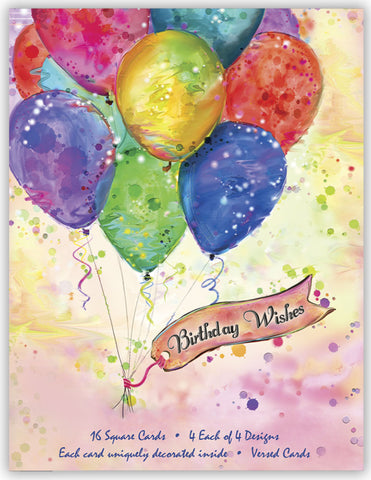 Birthday by Connie Haley - Assorted Birthday Cards, Box of 16