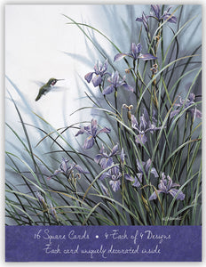 Hummingbirds - Assorted Greeting Cards, Box of 16