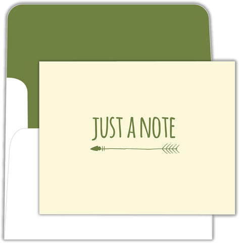 Just A Note - Boxed Note Cards, Box of 15