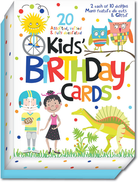 Juvenile Birthday Assort - Assorted Birthday Cards, Box of 20