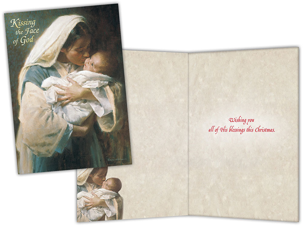 Kissing the Face of God - Special Finish Boxed Christmas Cards