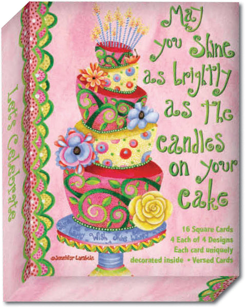 Let's Celebrate - Assorted Birthday Cards, Box of 16
