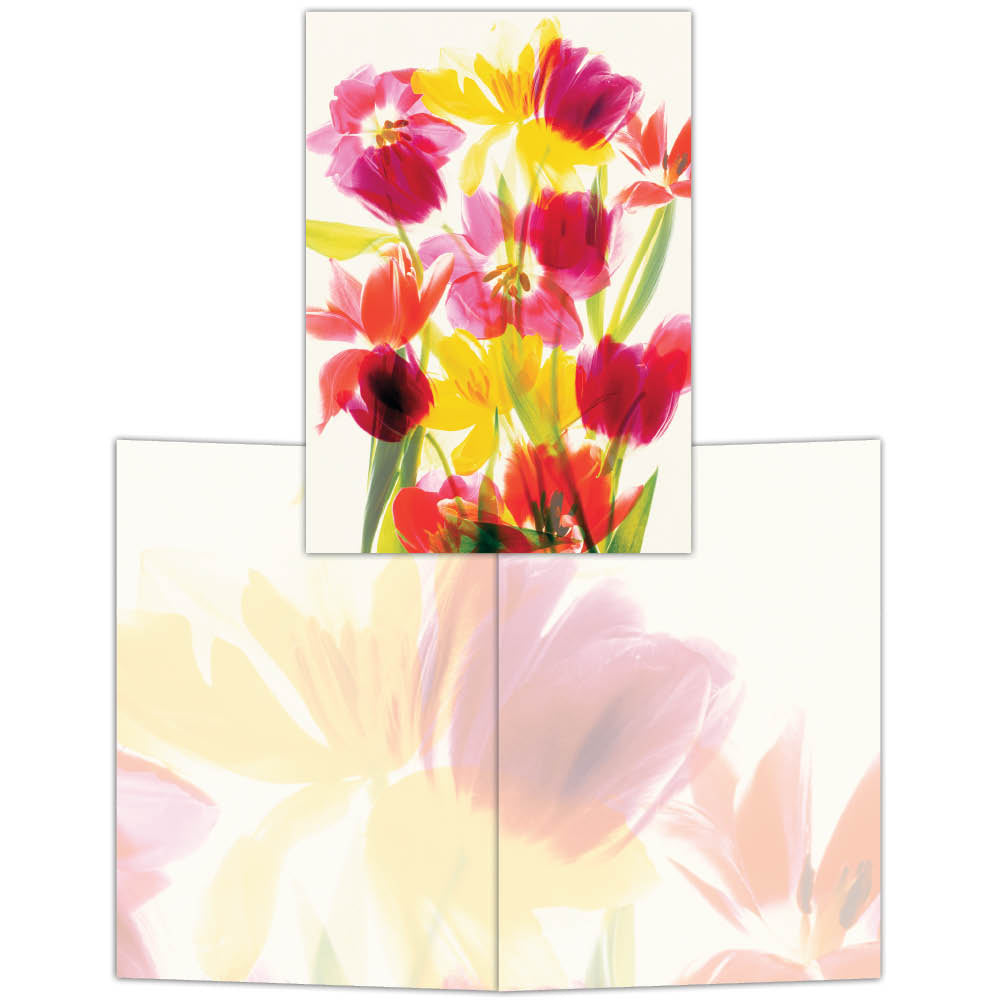 Multi-Colored Tulips - Boxed Note Cards, Box of 15