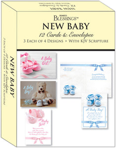 New Baby - Assorted Cards, Box of 12