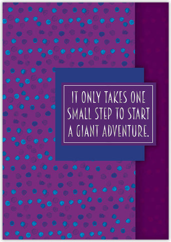 One Small Step - Individual Graduation Card