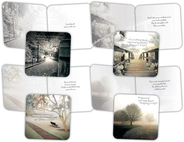 Paths of Inspiration - Assorted Encouragement Cards, Box of 16