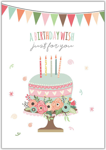 Floral Birthday Elements - Individual Birthday Card