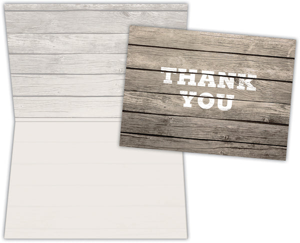 Rustic Thank You - Boxed Thank You Cards, Box of 15