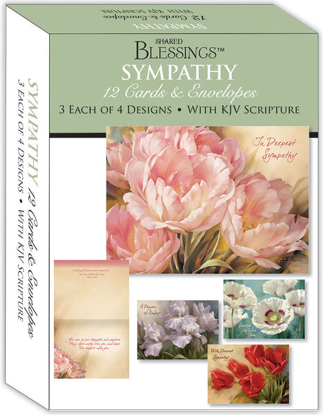 Sympathy II - Assorted Sympathy Cards, Box of 12