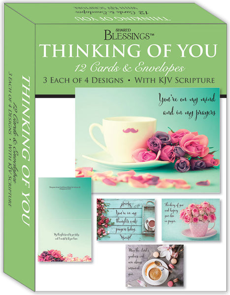 Thinking of You - Gentle Thoughts - Assorted Thinking of You Cards, Box of 12