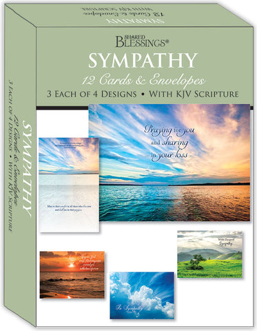 Sympathy - Heavenly Thoughts - Assorted Sympathy Cards, Box of 12